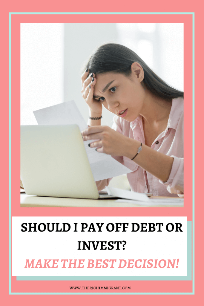 Should I pay off debt or invest? This is a dilemma most of us face on our financial journeys. Read on to find out how to make the best decision for you